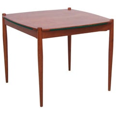 Gio Ponti Mahogany Wood Poker or Dining Table Made by Fratelli Reguitti