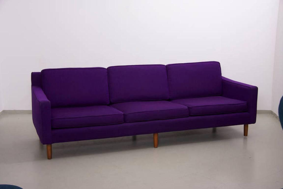 Mid Century Modern Sofa By Harvey Probber In Purple Wool For Sale At 1stdibs