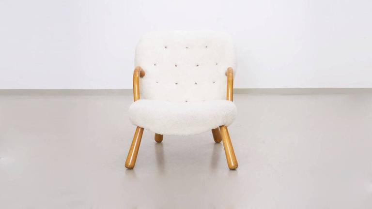 Danish Clam Chair by Philip Arctander For Sale