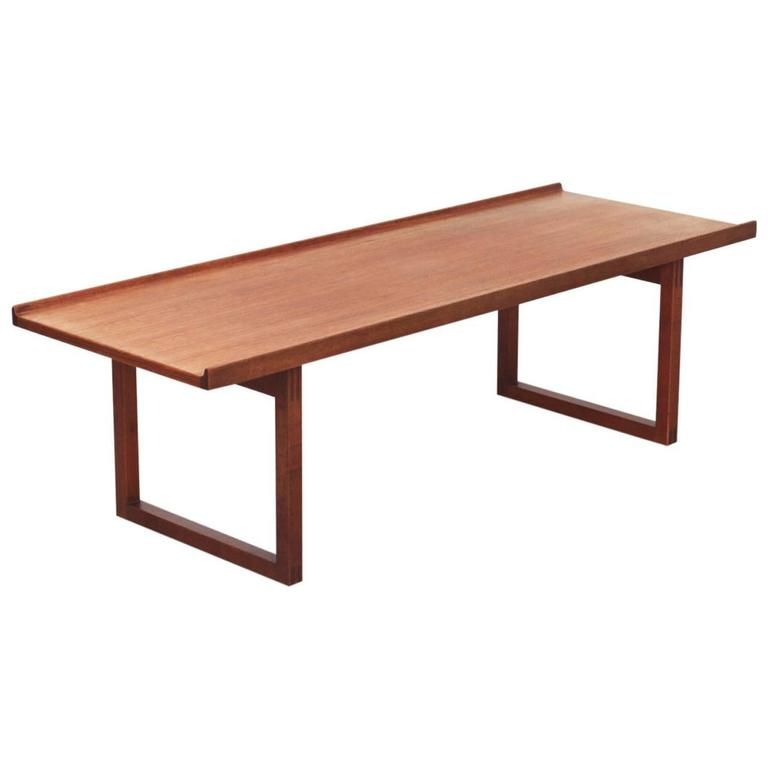Jo Carlsson Coffee Table or Bench in Teak by Vetlanda, Sweden