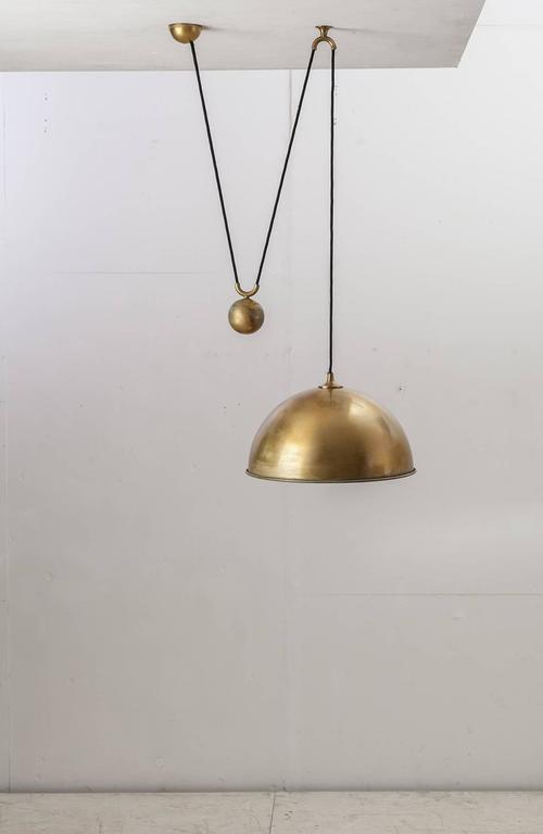 rare florian schulz posa brass pendant germany 1960s at. Black Bedroom Furniture Sets. Home Design Ideas