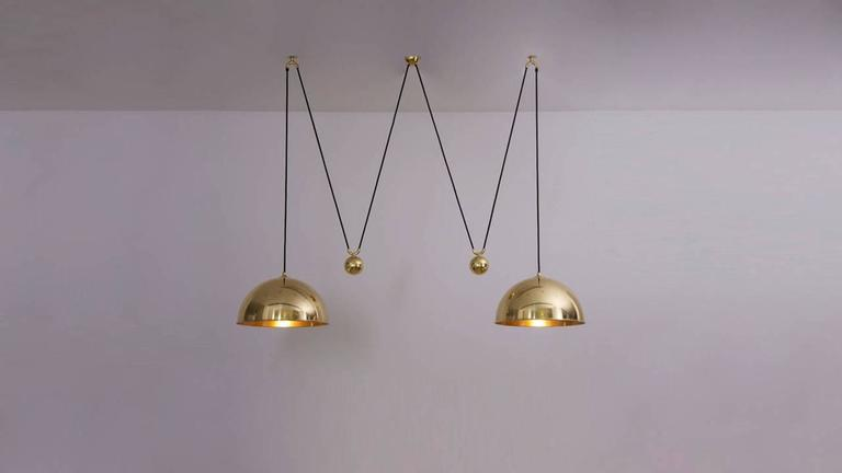 Florian Schulz Double Posa Pendant Lamp with Side Counter Weights In Excellent Condition In Berlin, DE