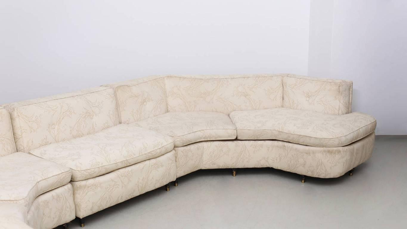 harvey probber curved sectional sofa upholstery needed for sale at 1stdibs