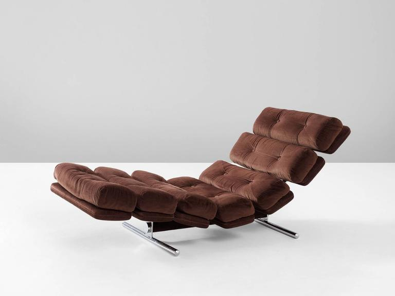 Chaise longue for gervan belgium in original upholstery - Chaise eames belgique ...