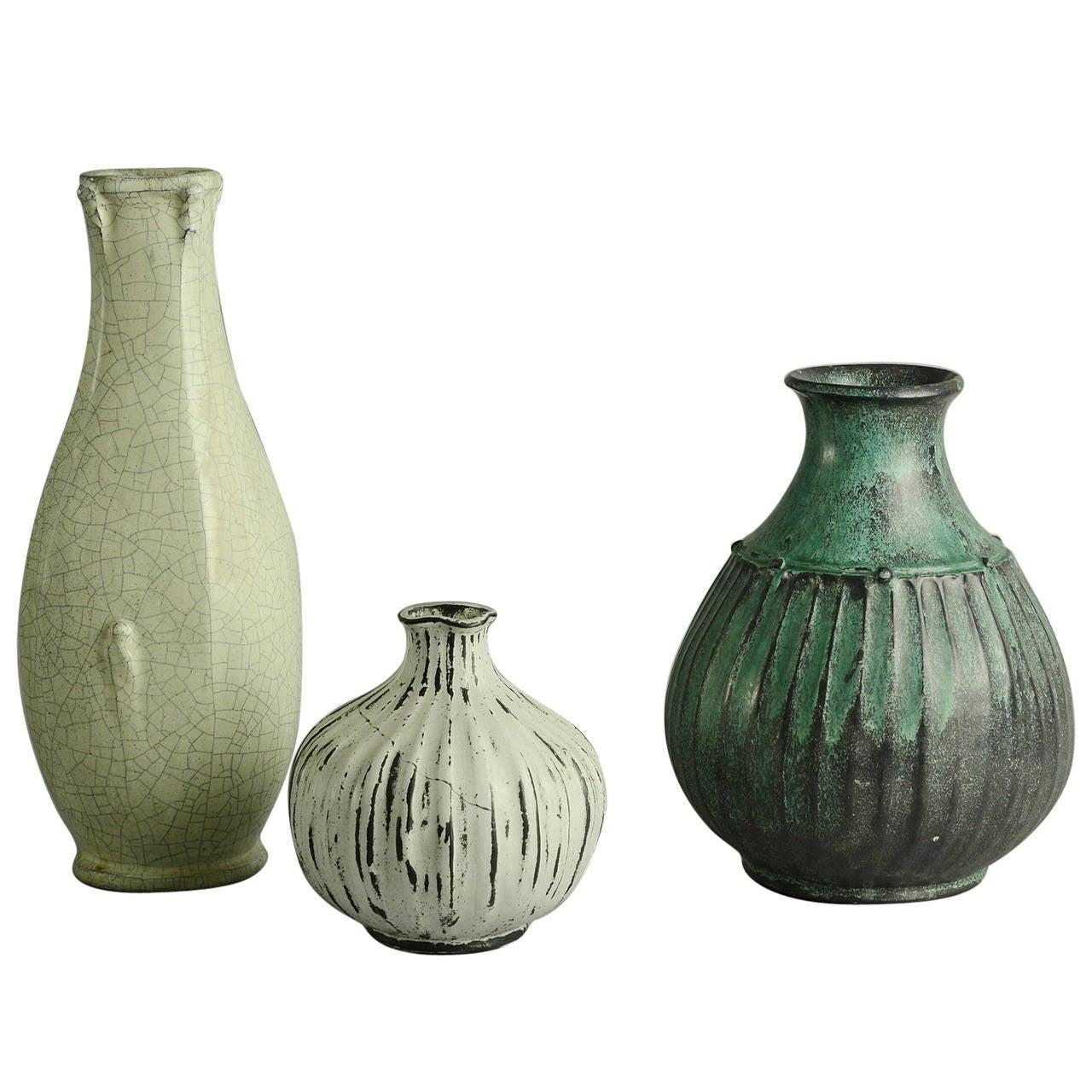 svend hammersh i for herman k hler three vases sold separately at 1stdibs. Black Bedroom Furniture Sets. Home Design Ideas