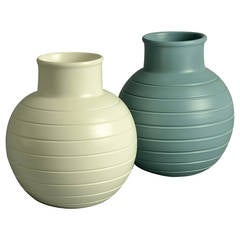 Two Spherical Vases by Keith Murray for Wedgwood