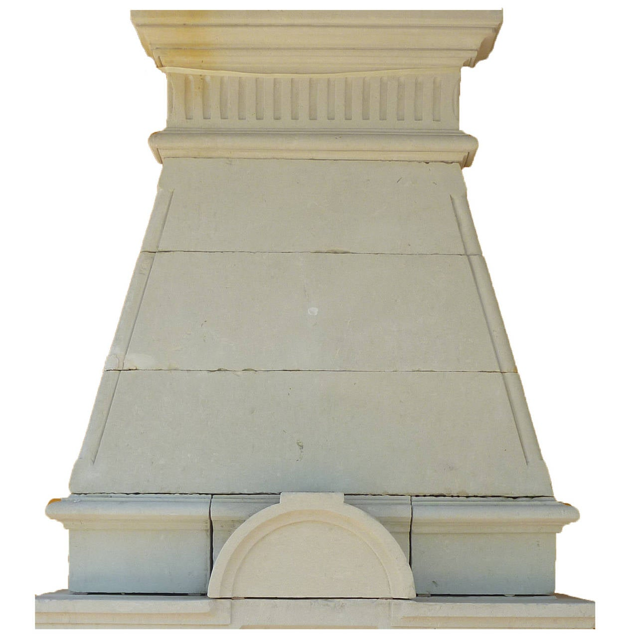 Antique French Limestone Fireplace 19th C Style Napoleon Iii At 1stdibs