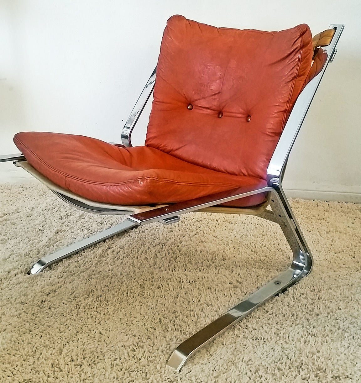 Elsa And Nordahl Solheim Quot Pirate Quot Chrome Lounge Chair At