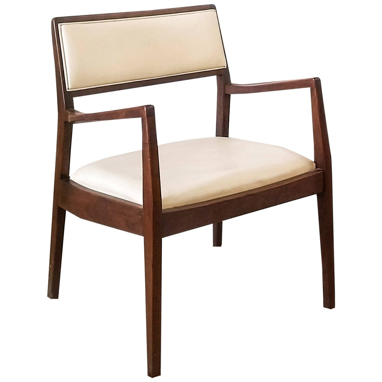 Jens Risom Walnut Lounge Chair at 1stdibs