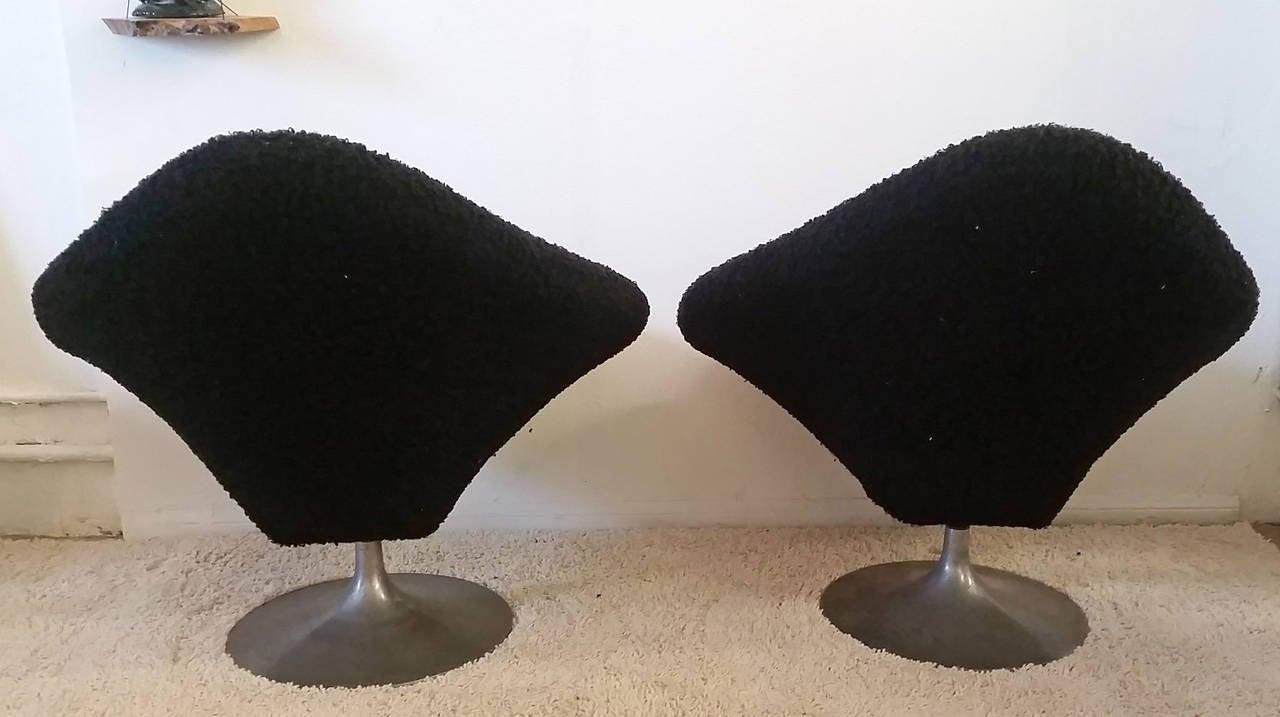 Mid Century Sculptural Pair Of Diamond Shaped Lounge