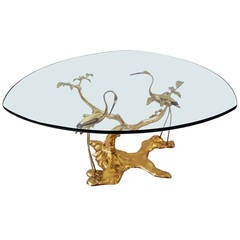 Willy Daro Solid Brass Ibis Coffee Table