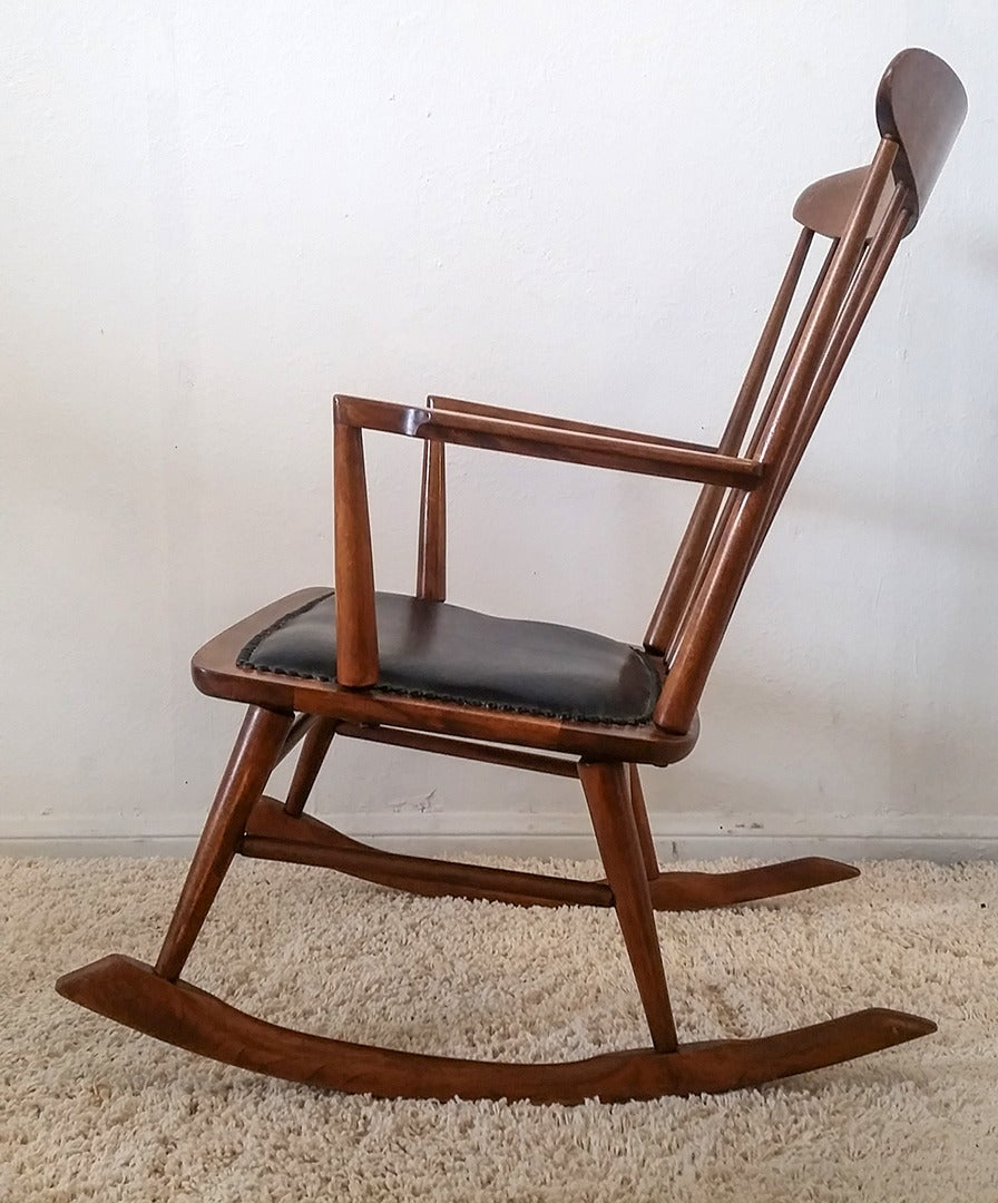 Sculptural Danish Modern Rocking Chair At 1stdibs