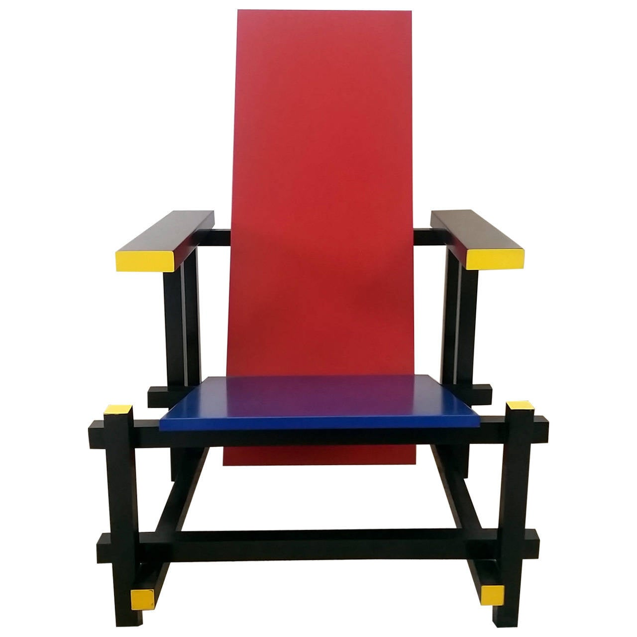 Hanging Lamp Gerrit Rietveld: Red Blue Chair In The Manner Of Gerrit Rietveld At 1stdibs
