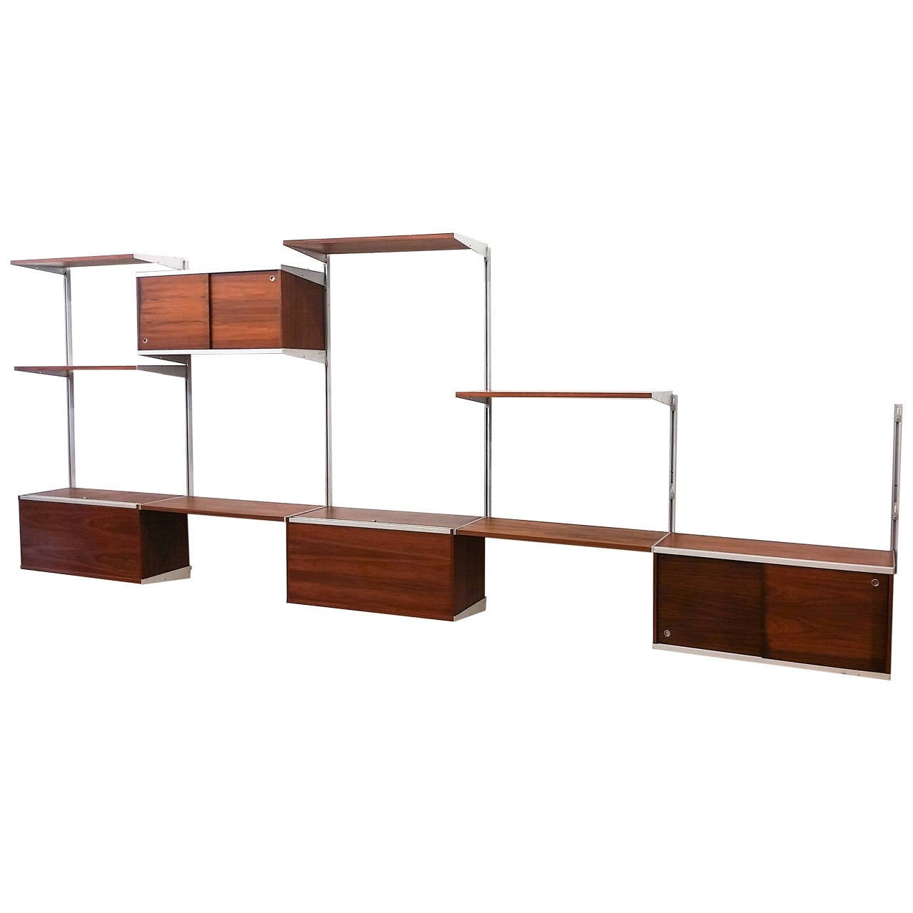 Five Bay George Nelson CSS Wall Unit for Herman Miller at