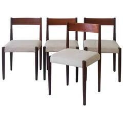 Set of Four Poul Volther Frem Rojle Danish Teak Dining Chairs