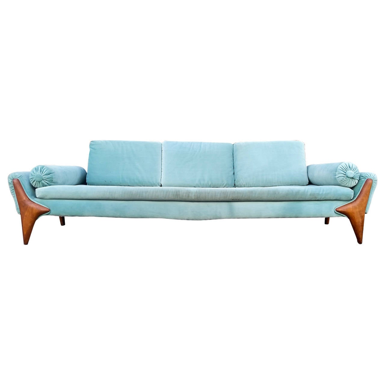 Rare Sculptural Adrian Pearsall Gondola Sofa For Sale