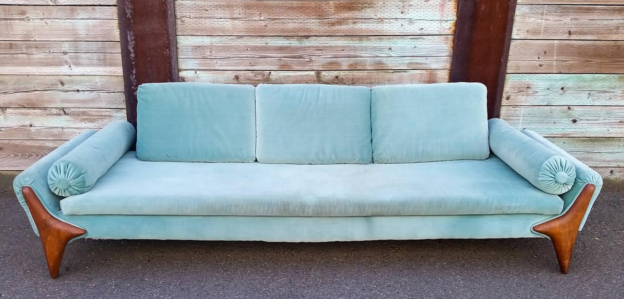 American Rare Sculptural Adrian Pearsall Gondola Sofa For Sale