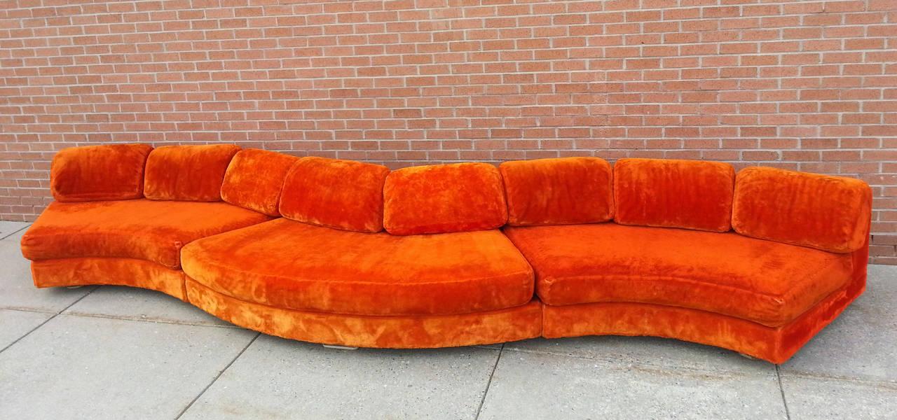 Rare Adrian Pearsall Serpentine Sofa At, Adrian Pearsall Sofa Craigslist