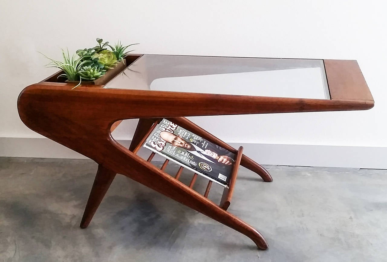 sculptural mid century coffee table in the style of ico. Black Bedroom Furniture Sets. Home Design Ideas