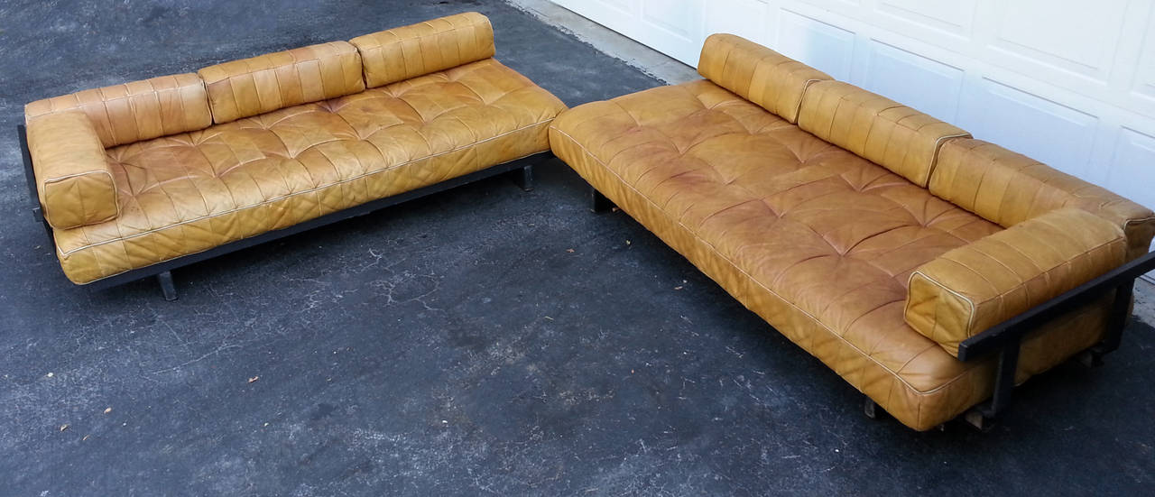 De Sede DS-80 Sectional In Patinated Cognac Leather At 1stdibs