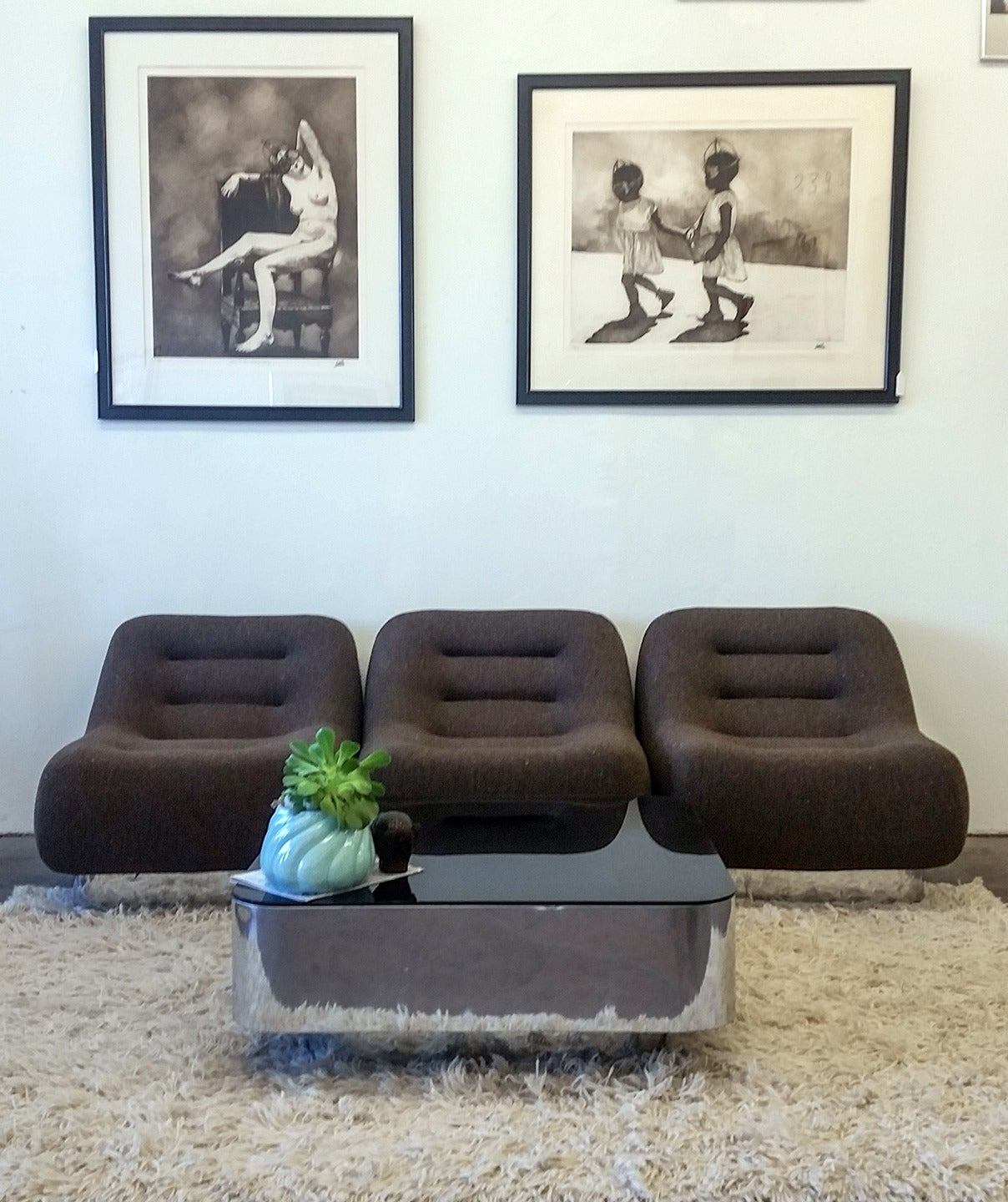 Living Room Suites For Sale: M. F. Harty For Stow Davis Tomorrow Sofa Chairs And Table
