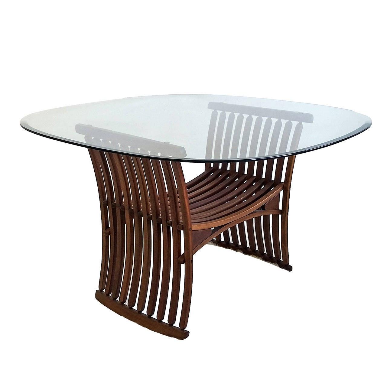 Danish Modern Slatted Rib Bone Teak Dining Table At 1stdibs