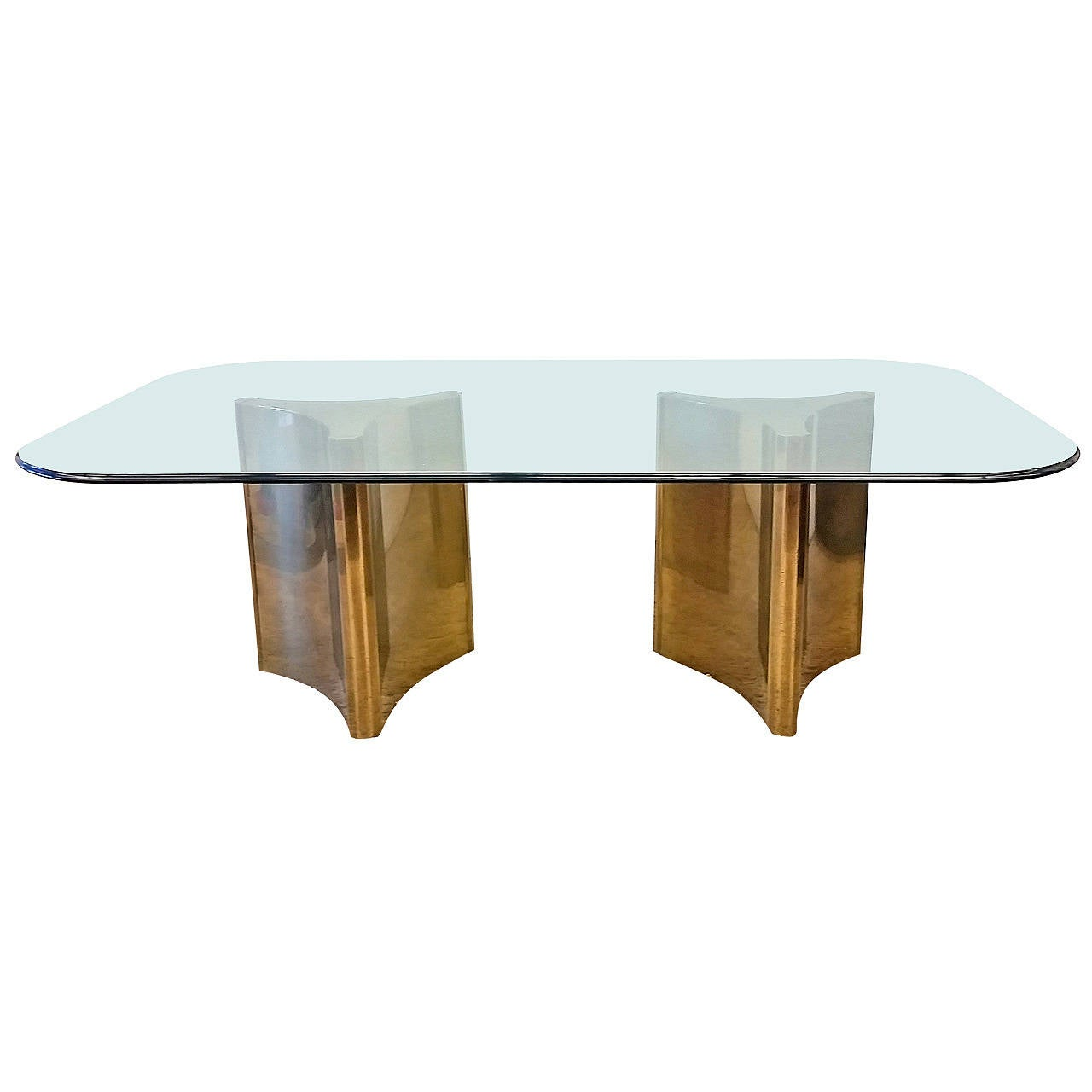 trefoile brass double pedestal dining table is no longer available