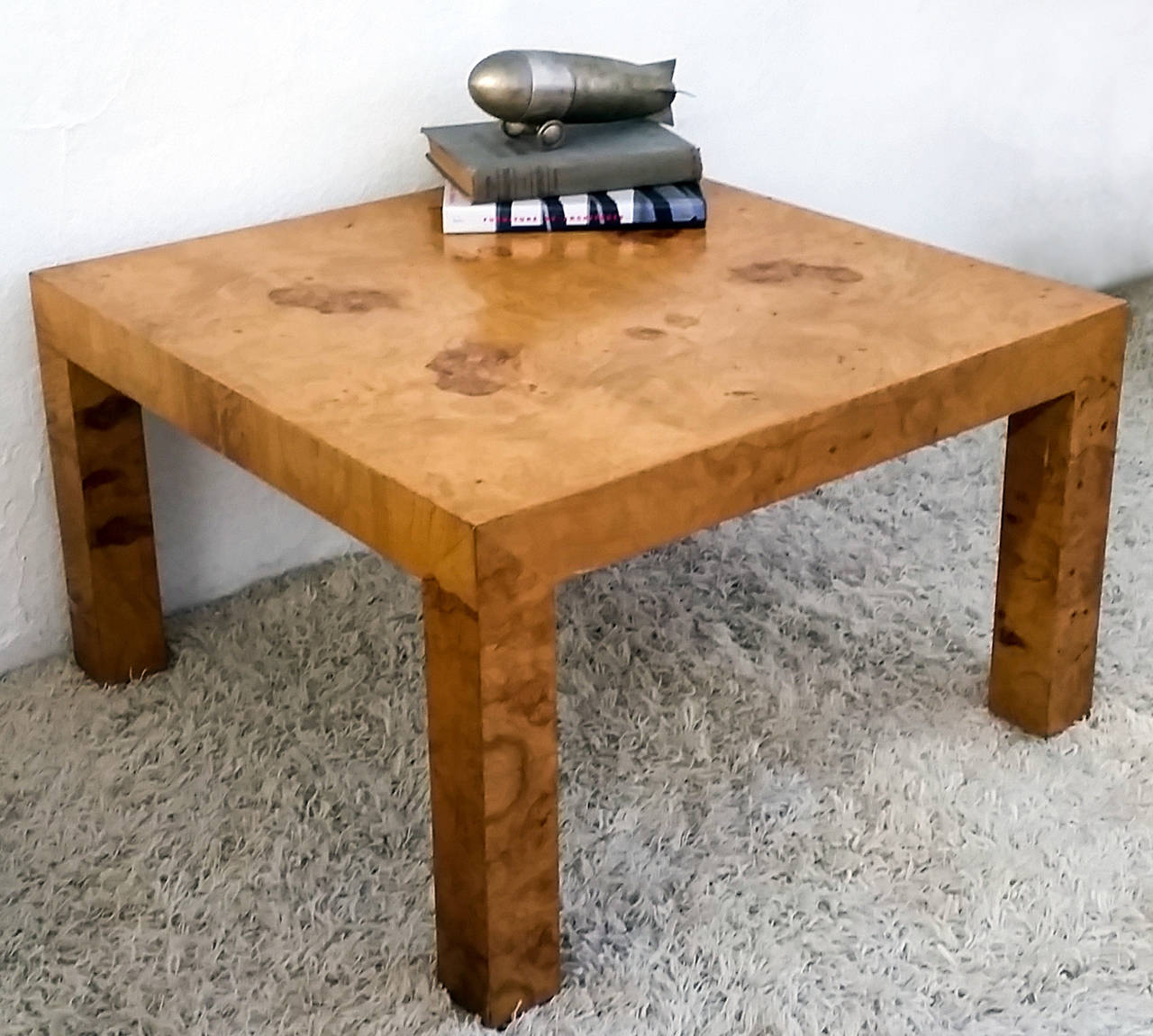 Milo Baughman For Thayer Coggin Burl Parsons Style Coffee Table At 1stdibs