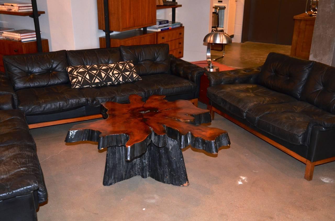 Live Edge Redwood Burl Coffee Table 1970s For Sale At 1stdibs