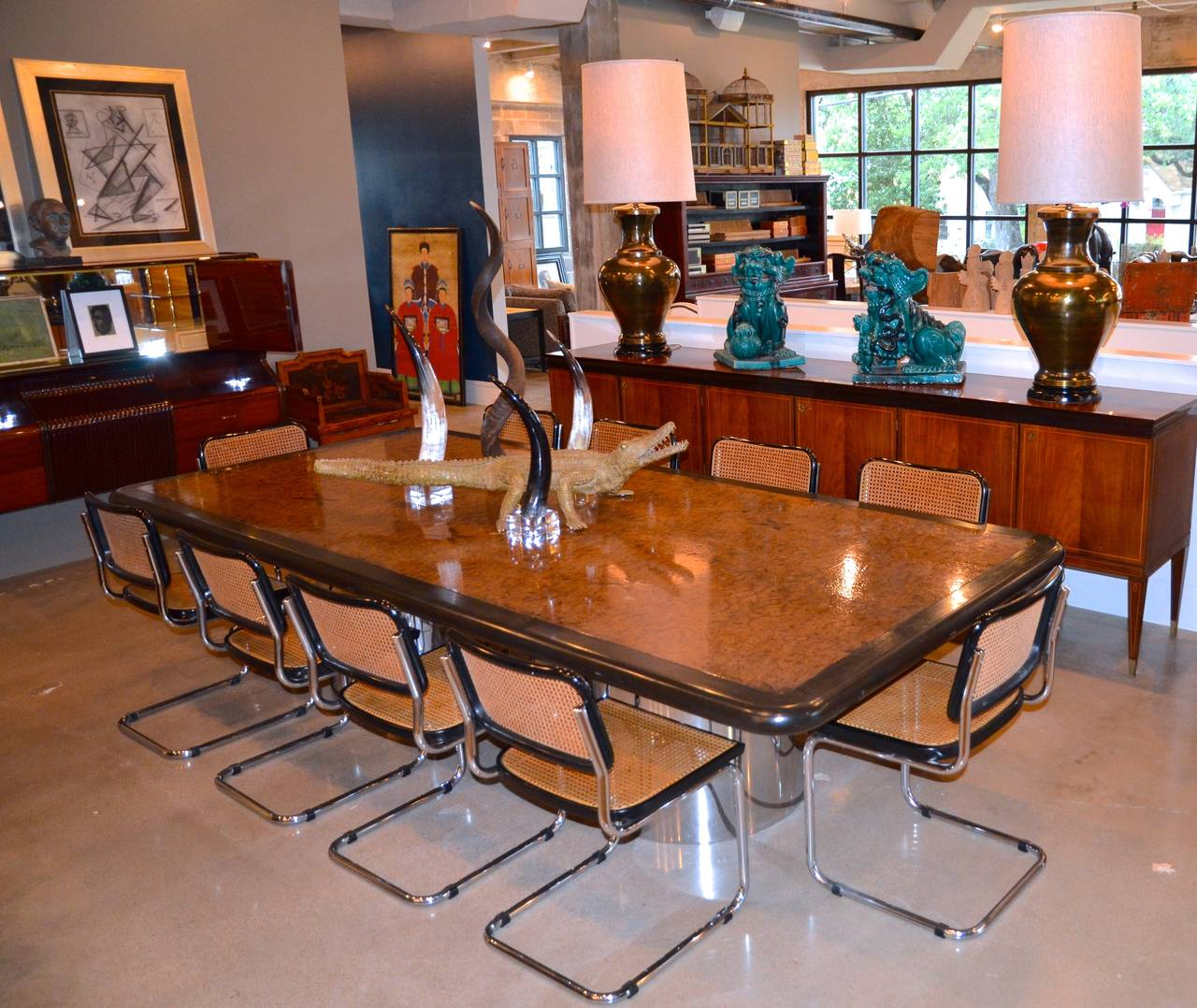 Mid Century Modern Iconic Marcel Breuer Cesca Chairs In Black For Sale