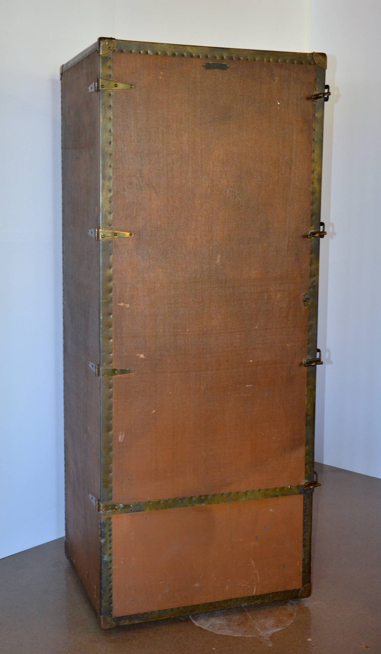 Wardrobe Steamer Trunk, circa 1915 2