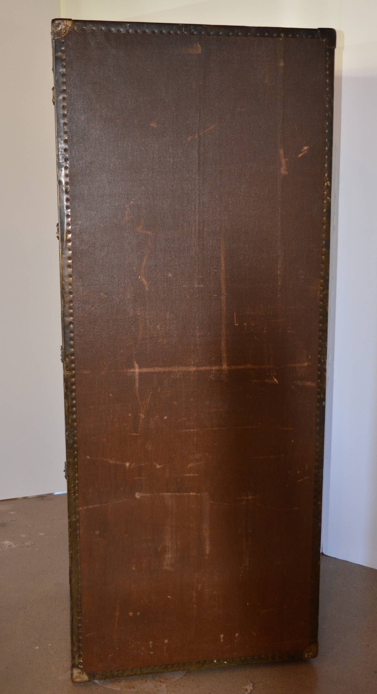 Wardrobe Steamer Trunk, circa 1915 7