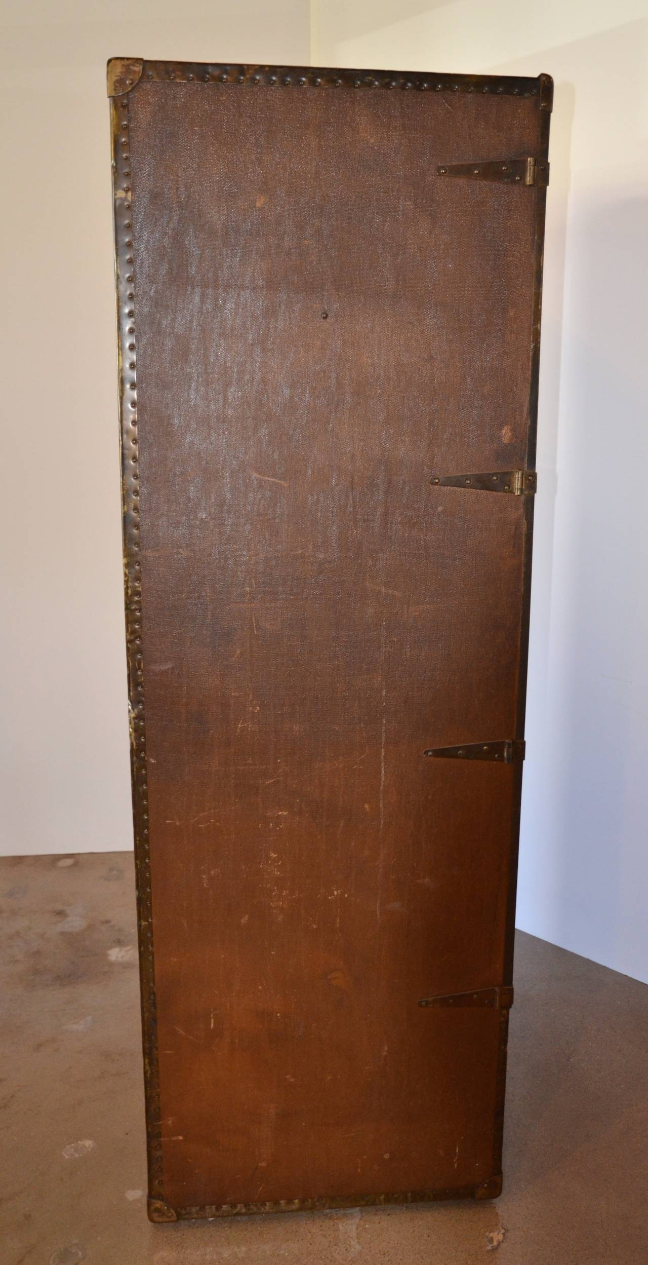 Wardrobe Steamer Trunk, circa 1915 8