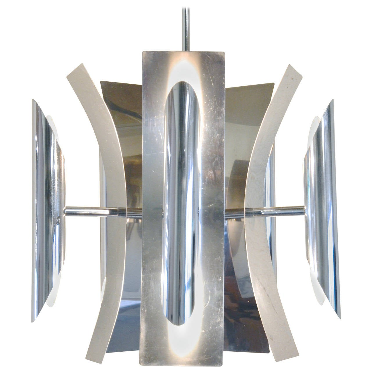 Italian mid century modern chrome chandelier for sale at 1stdibs italian mid century modern chrome chandelier for sale aloadofball Choice Image