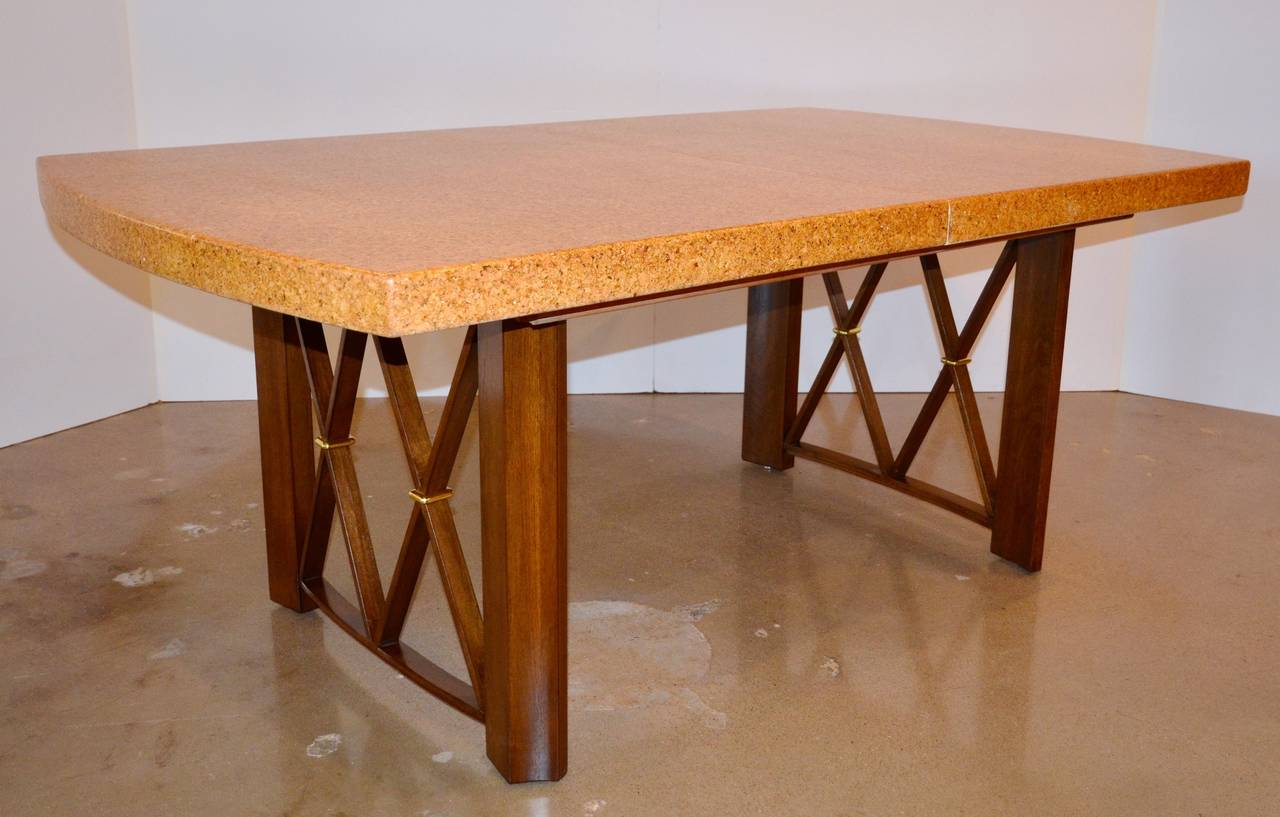 Paul Frankls Cork Walnut and Brass Dining Table for  : DSC4618l from 1stdibs.com size 1280 x 817 jpeg 89kB