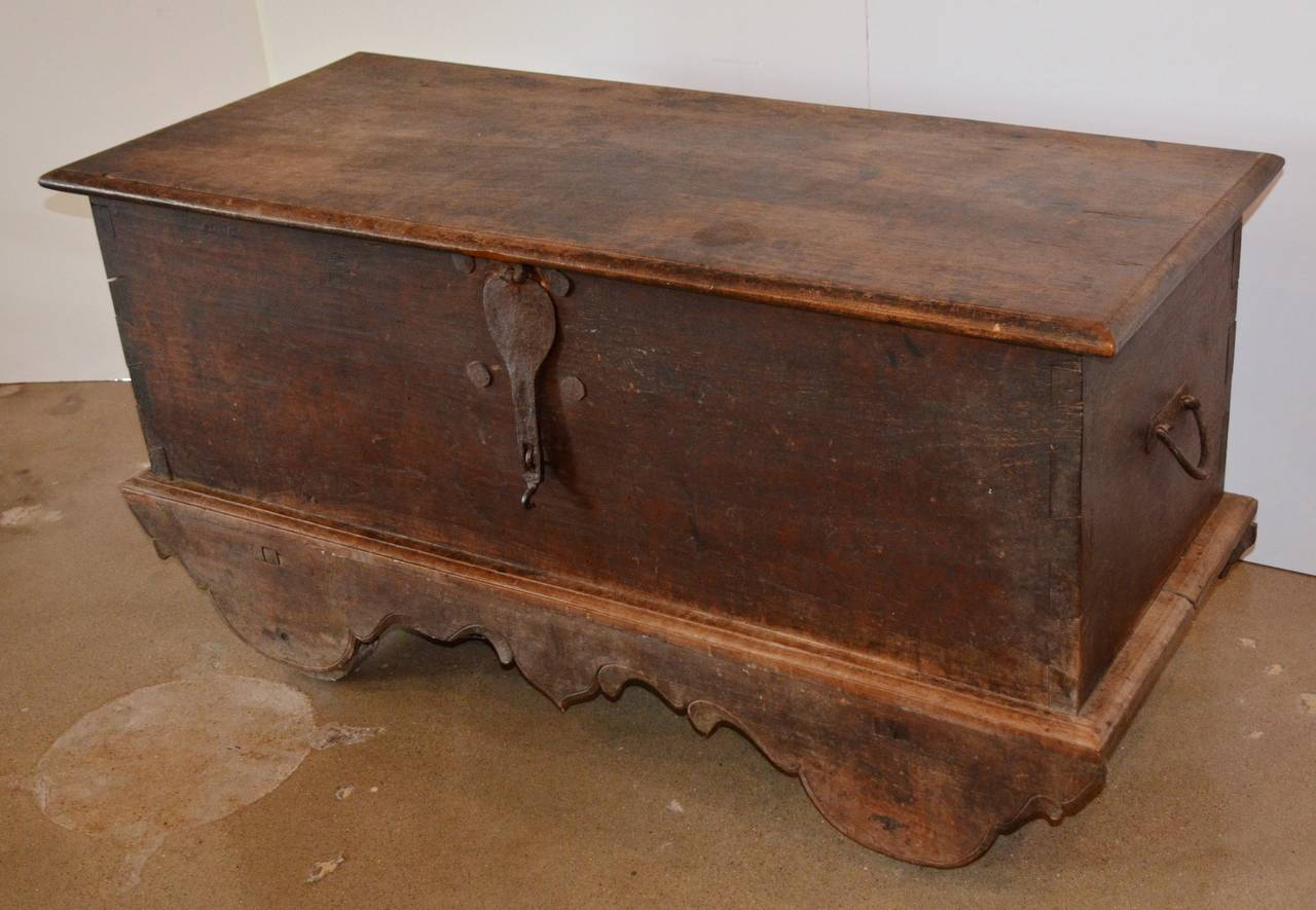 Antique Grobog Trunk On Wheels 19th Century At 1stdibs