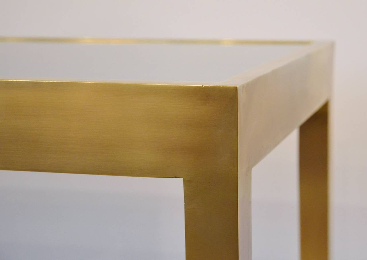 Solid Bronze Console Table with Interchangeable Top 9