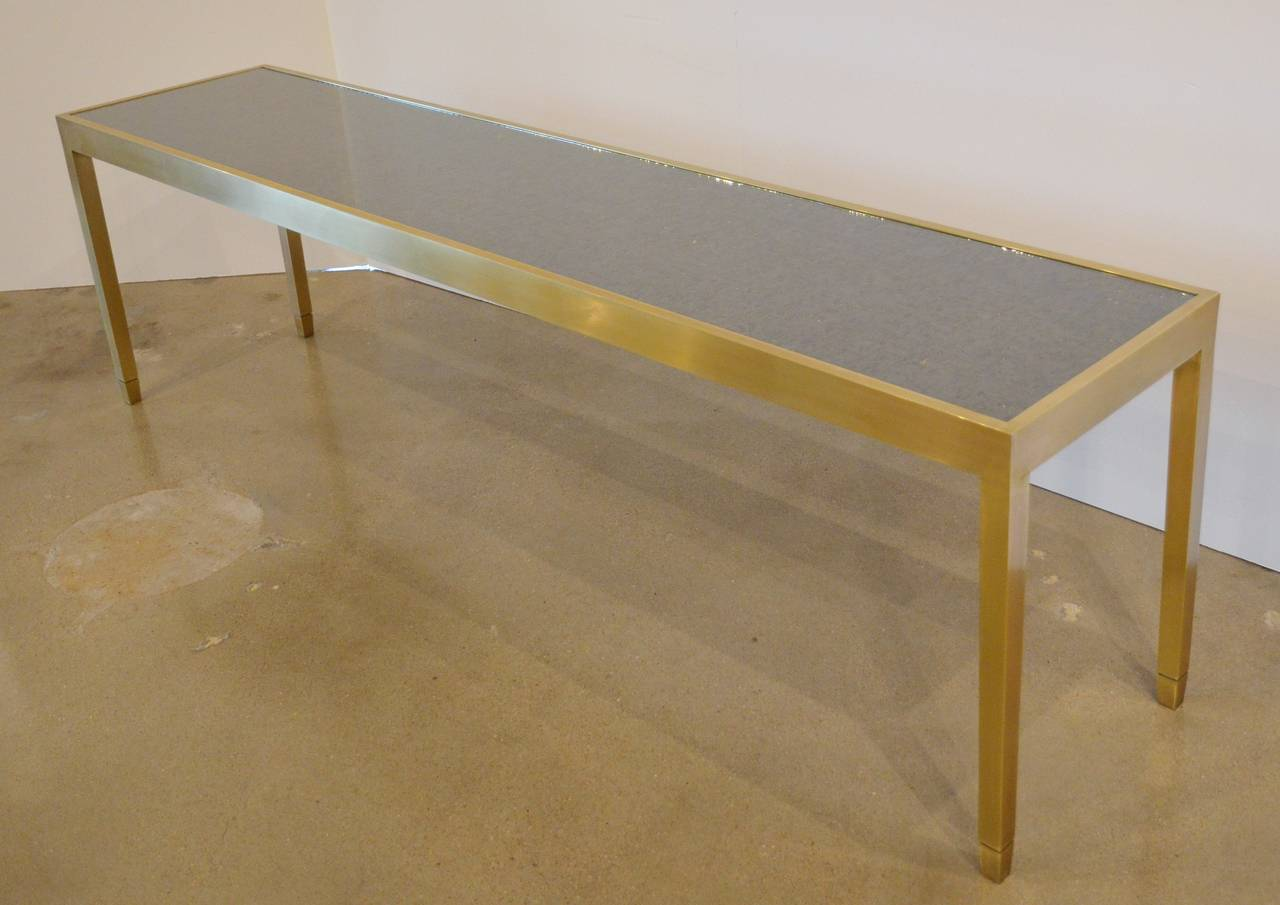 Solid Bronze Console Table with Interchangeable Top 3