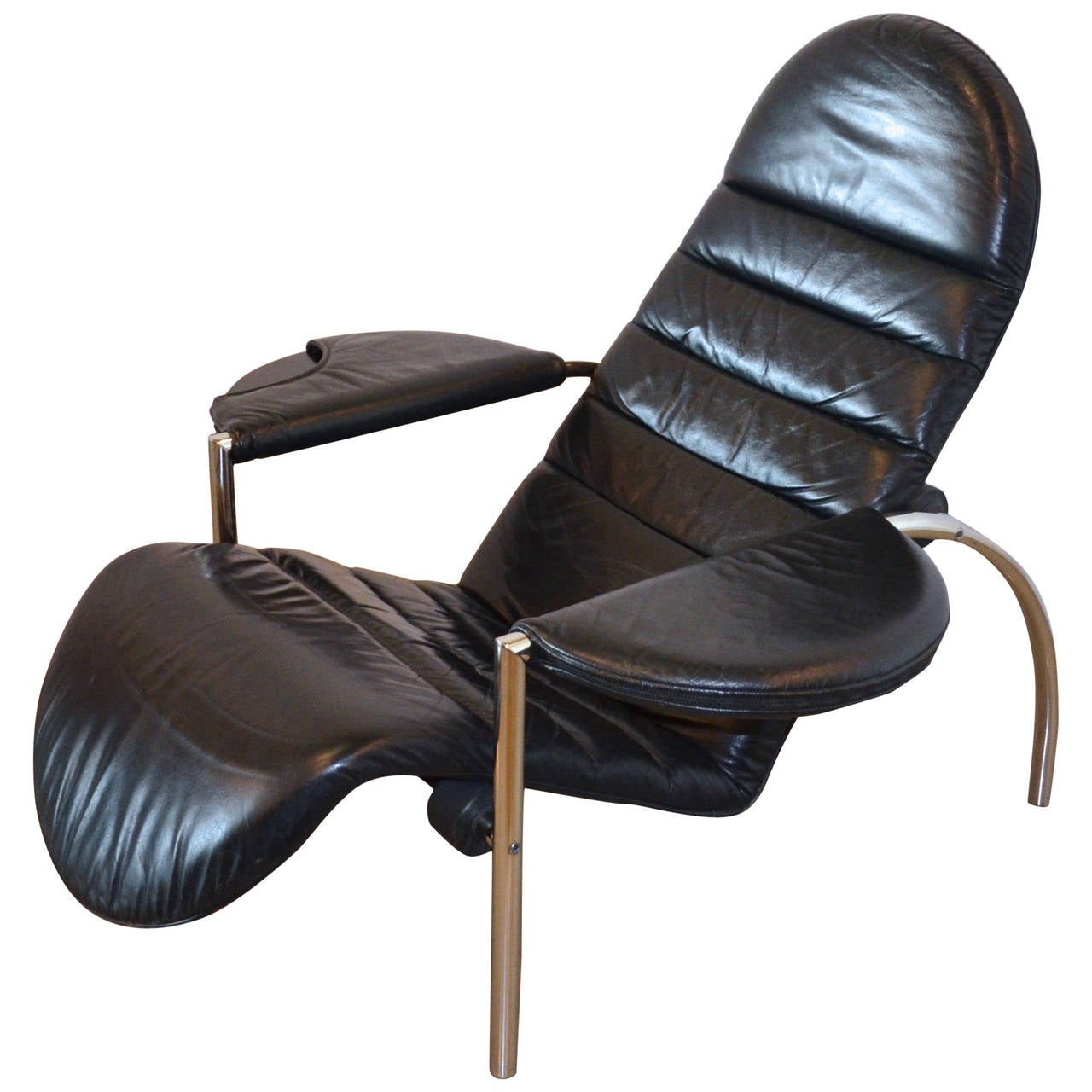 Moroso Italian Modern Reclining Chair circa 1980s at 1stdibs