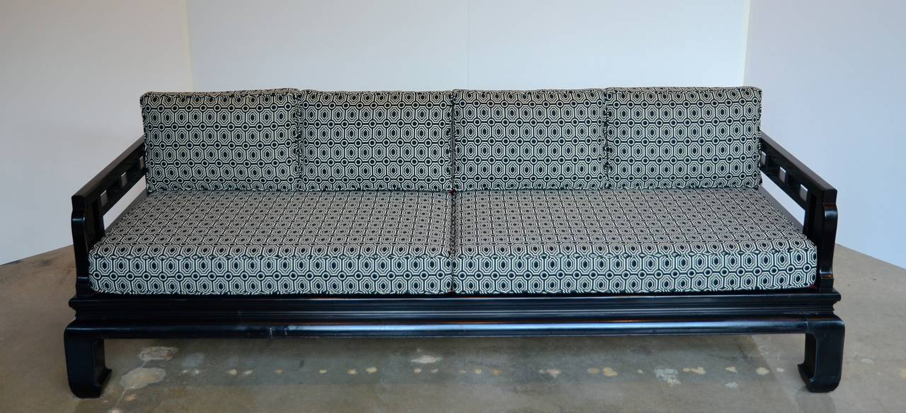 Michael Taylor Styled Sofa With Chippendale Fretwork Circa 1960s For Sale At 1stdibs