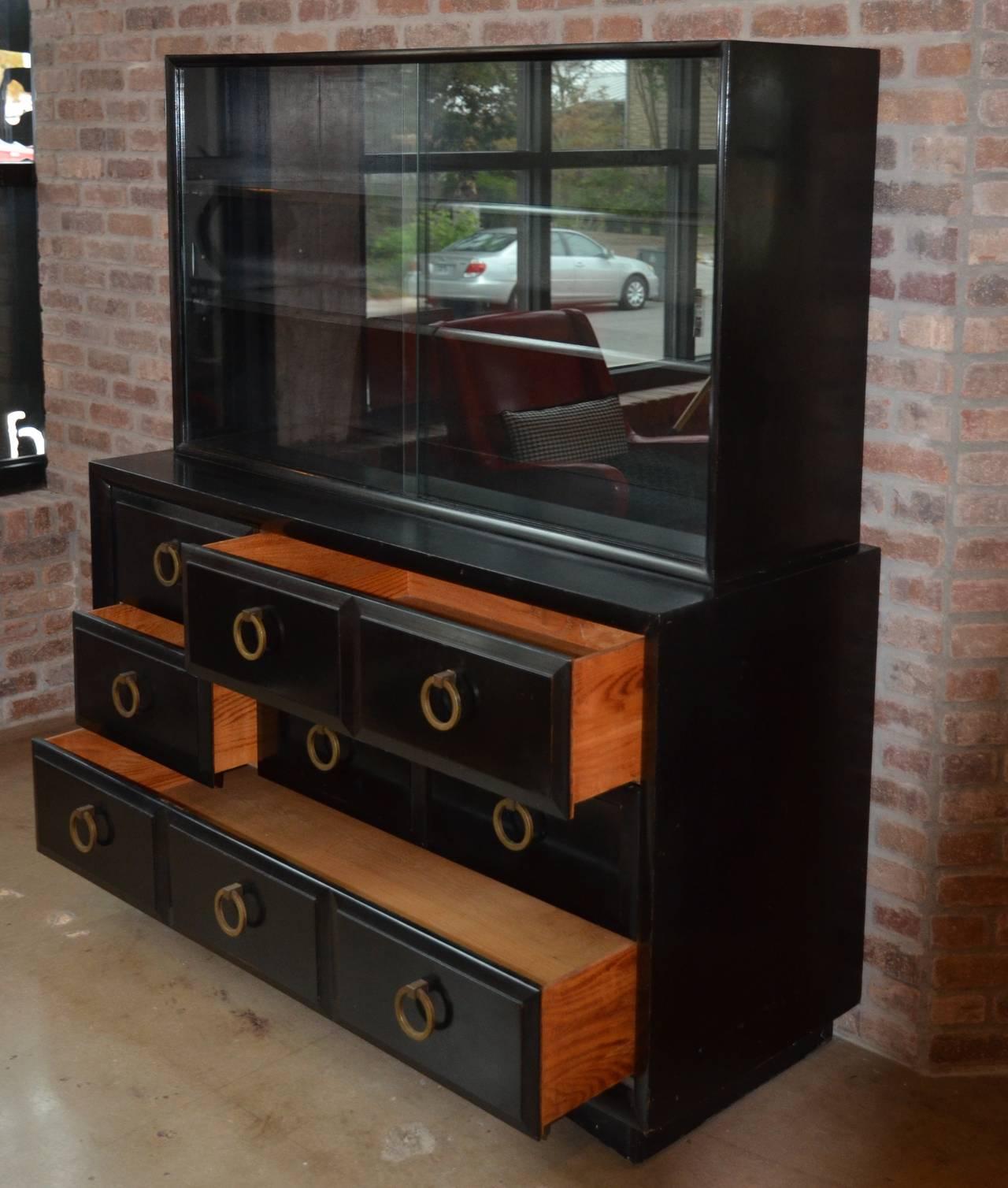 Brass Mid-Century Dresser or Media Cabinet by T. H. Robsjohn-Gibbings for Widdicomb For Sale