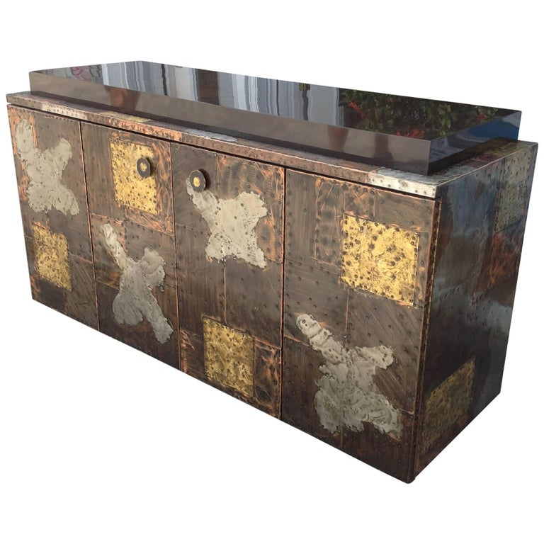 Important and Rare Credenza by Paul Evans