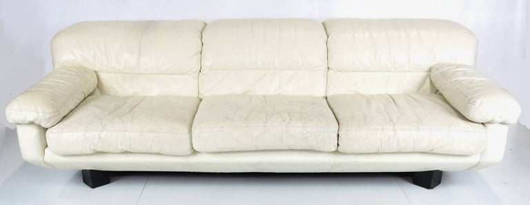 Fabulous Sleek 1980S Italian White Leather Sofa By Marco Zani Download Free Architecture Designs Scobabritishbridgeorg