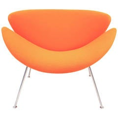 Vintage F437 Orange Slice Chair by Pierre Paulin for Artifort, 1960