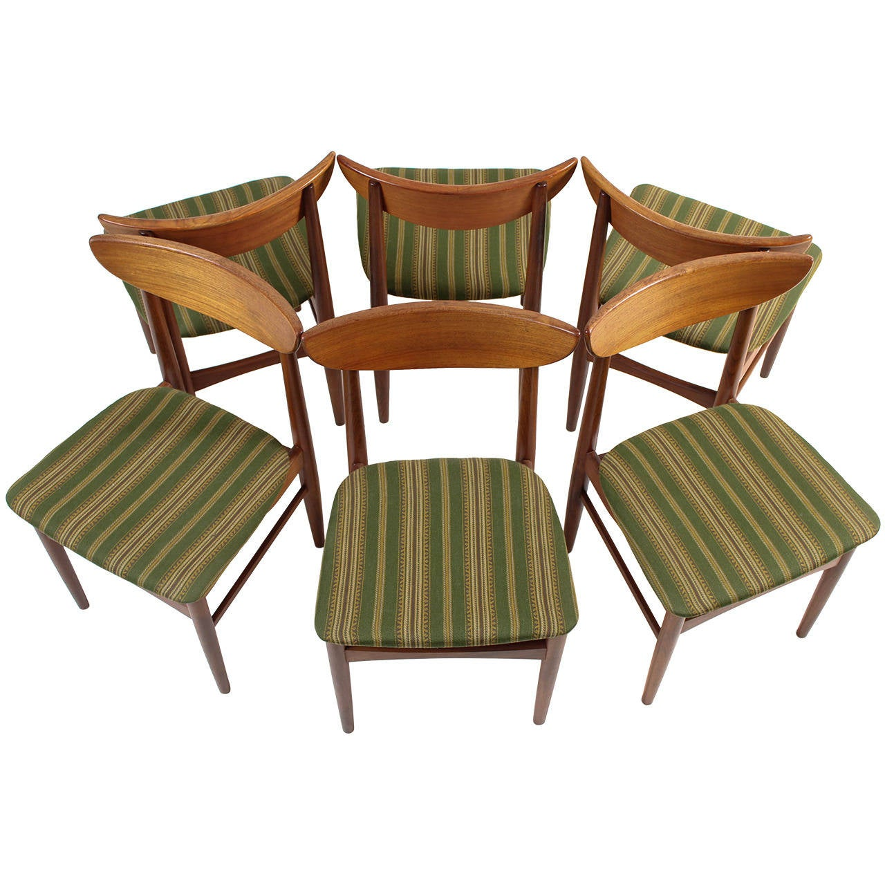 Set Of Six Solid Teak Chairs By A/S Skovby Møbelfabrik, Denmark 1
