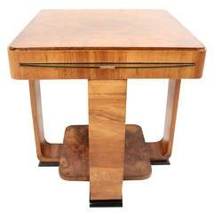 Rare French Art Deco Walnut Coffee Table