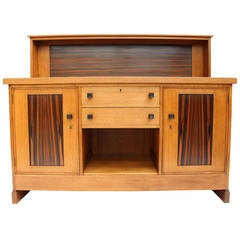Oak/Macassar Ebony Art Deco Haagse School Sideboard By Henk Wouda