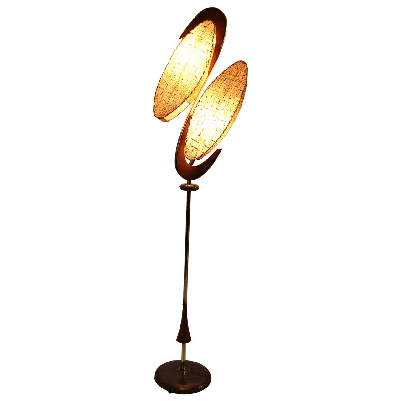 mid century modern floor lamp by majestic usa at 1stdibs. Black Bedroom Furniture Sets. Home Design Ideas