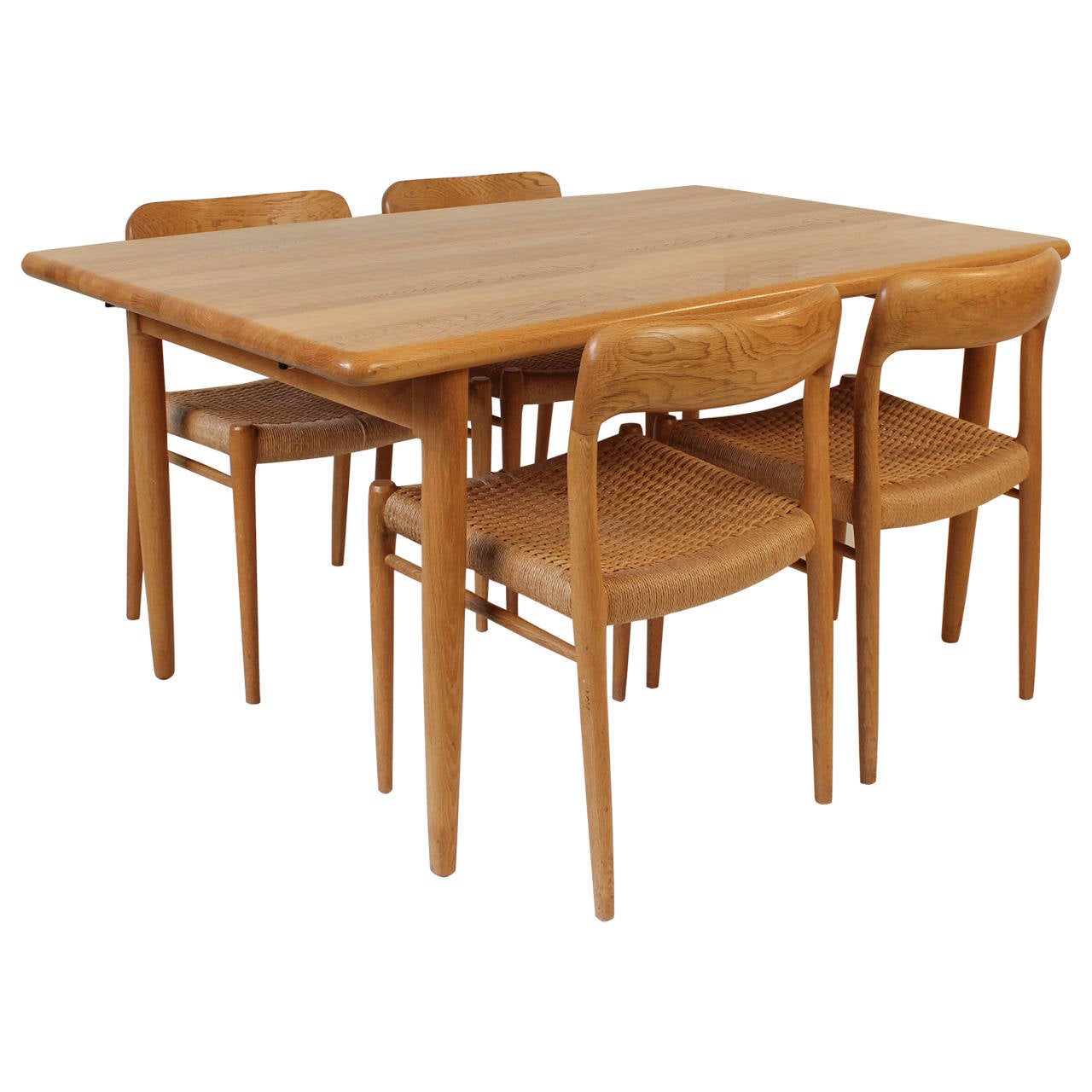 mid century modern dining room set by niels otto m ller