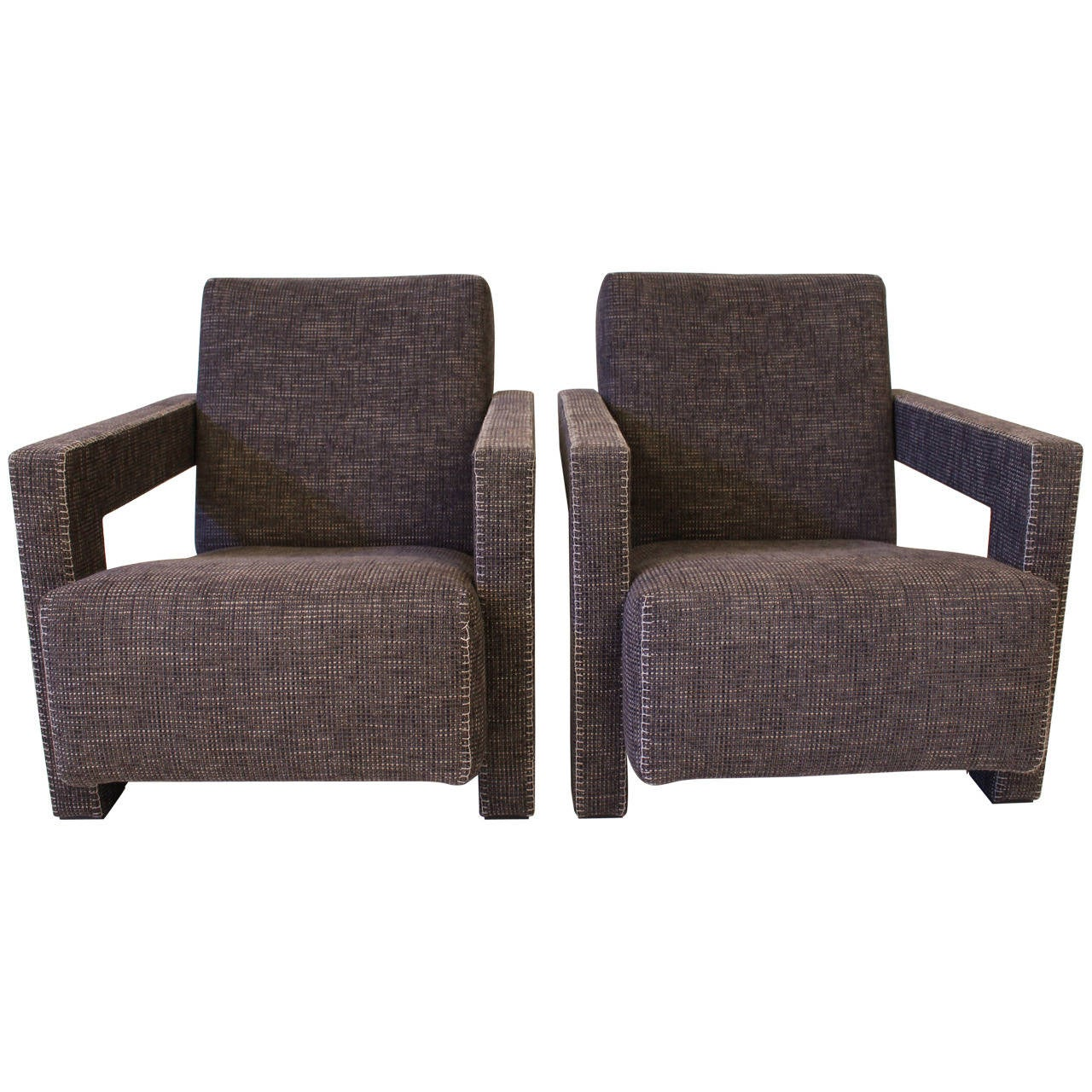 """Pair Of """"Utrecht"""" Chairs By Gerrit Rietveld For Cassina At"""